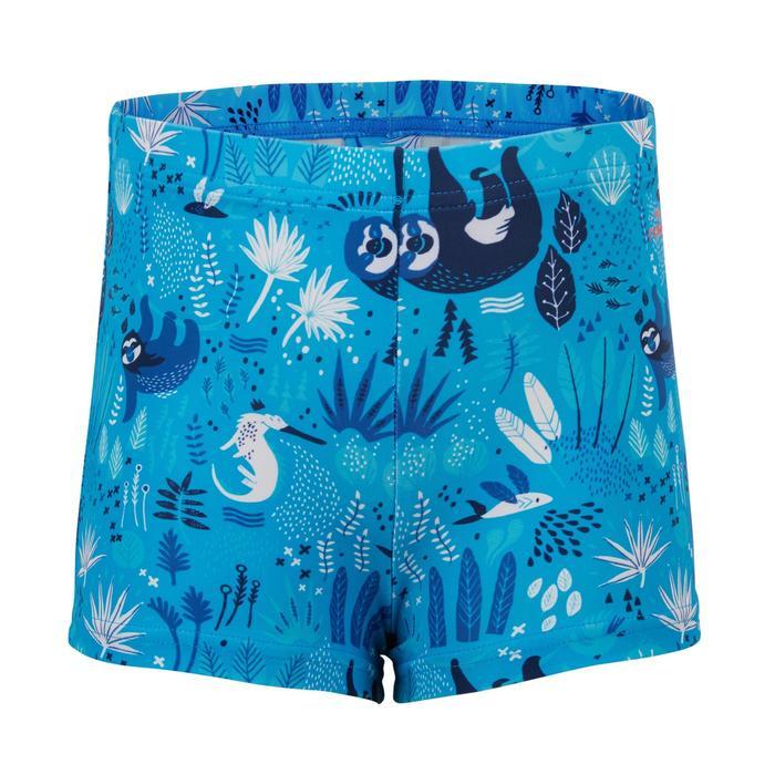 Dark blue baby boy's sloth print swim boxers