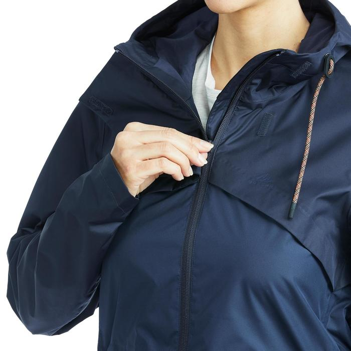 Regenjacke NH500 Damen marineblau für Naturwanderungen