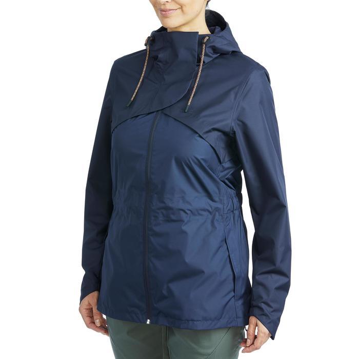 Veste Imperméable randonnée nature NH500 marine femme