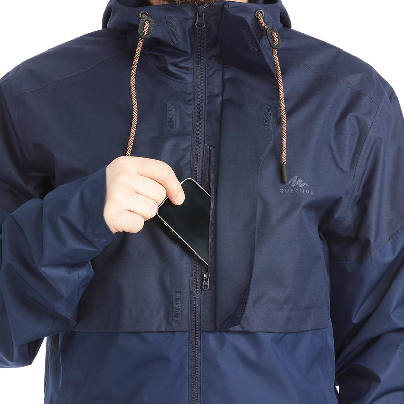 Men's Raincoat NH500 - Navy