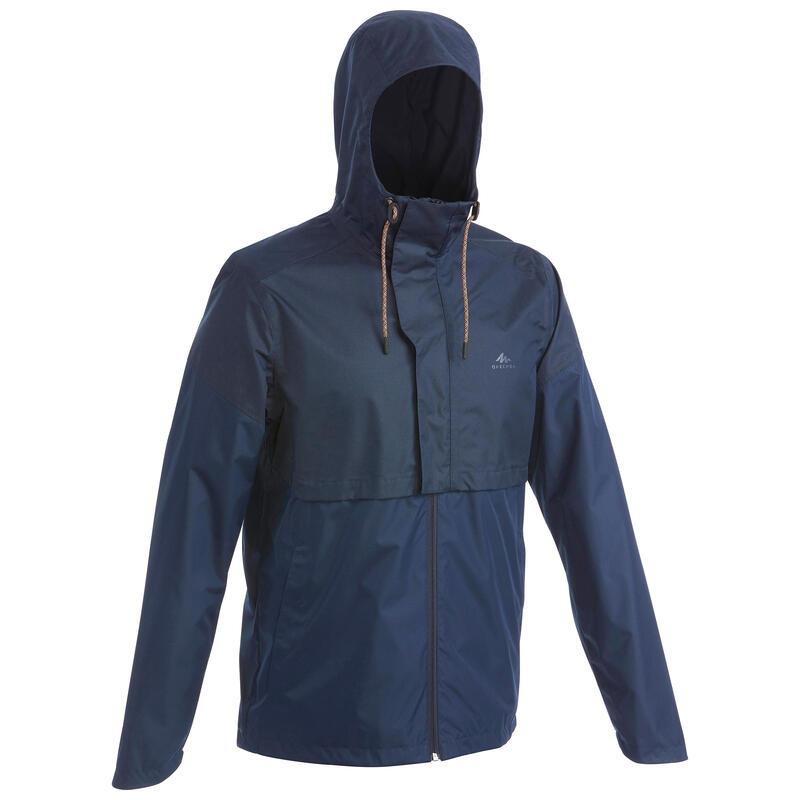 Casaco Impermeável de Caminhada na natureza NH500 Homem Azul marinho
