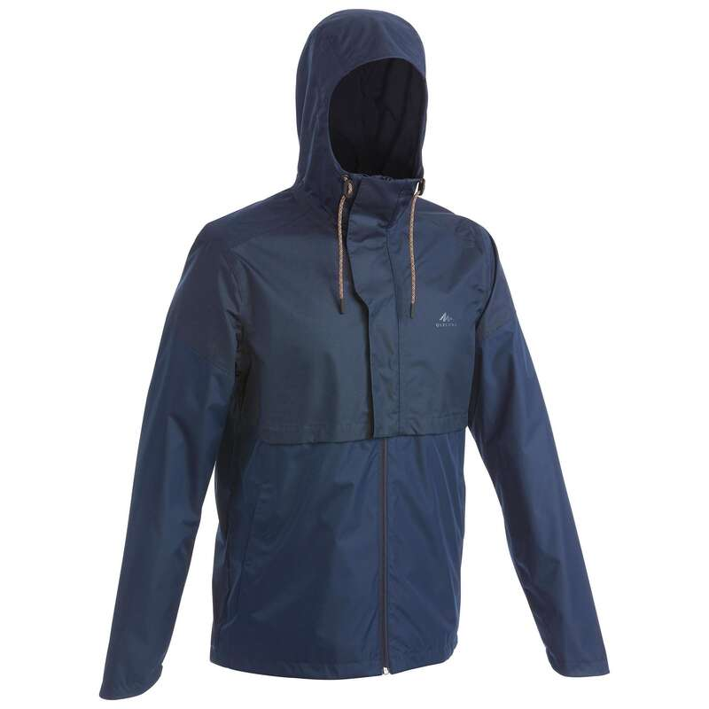 MEN NATURE HIKING JACKETS ALL WEATHER Hiking - Jacket NH500 Imper - Navy QUECHUA - Hiking Jackets