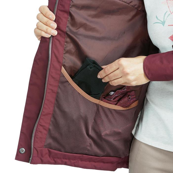 Waterdichte wandelparka voor dames NH500 Protect bordeaux