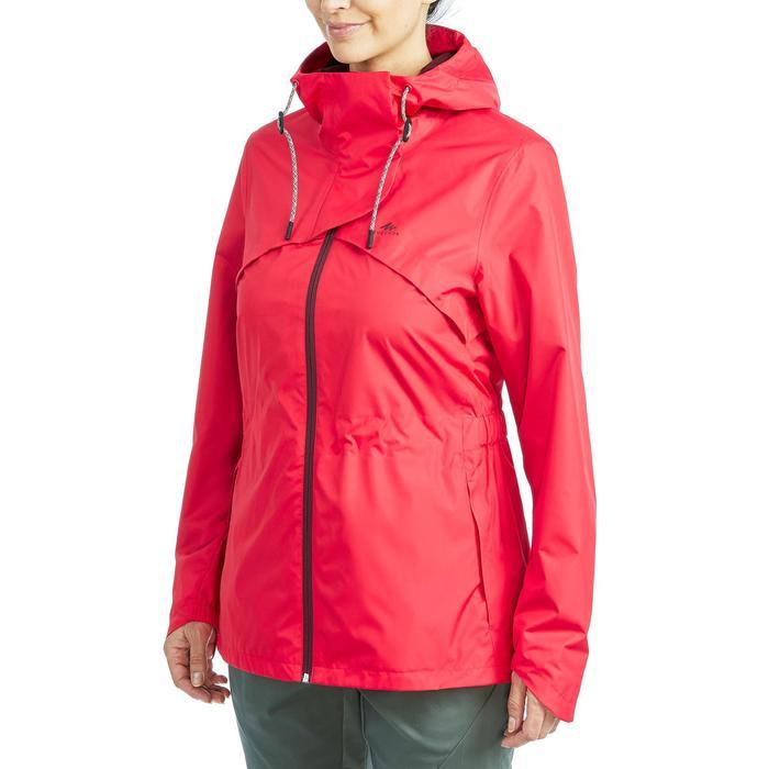 Veste Imperméable randonnée nature NH500 rouge femme