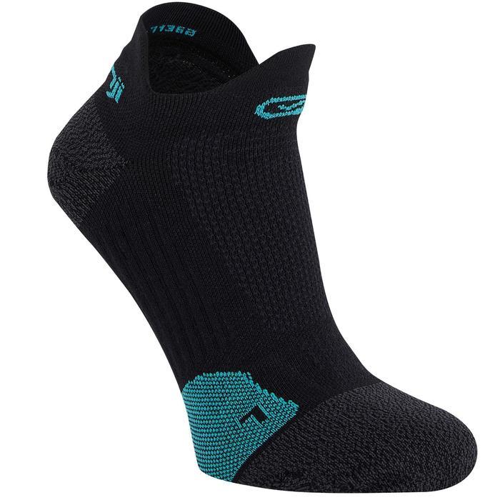 隱形薄運動襪KIPRUN黑色/土耳其藍