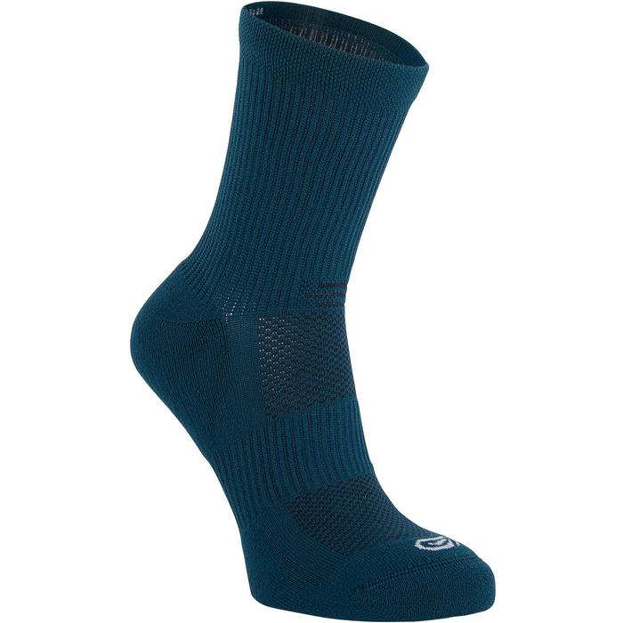 RUNNING COMFORTABLE MID-HEIGHT SOCKS 2-Pack - PETROL