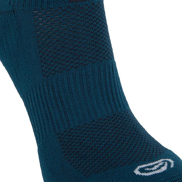 中筒襪COMFORT一雙入深藍綠色