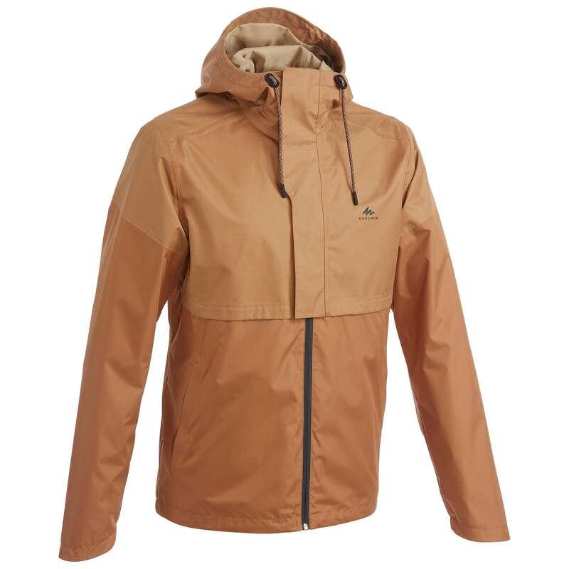 МУЖСКИЕ КУРТКИ / прогулки на природе Большие размеры - Куртка ореховая NH500 Imper QUECHUA - Большие размеры