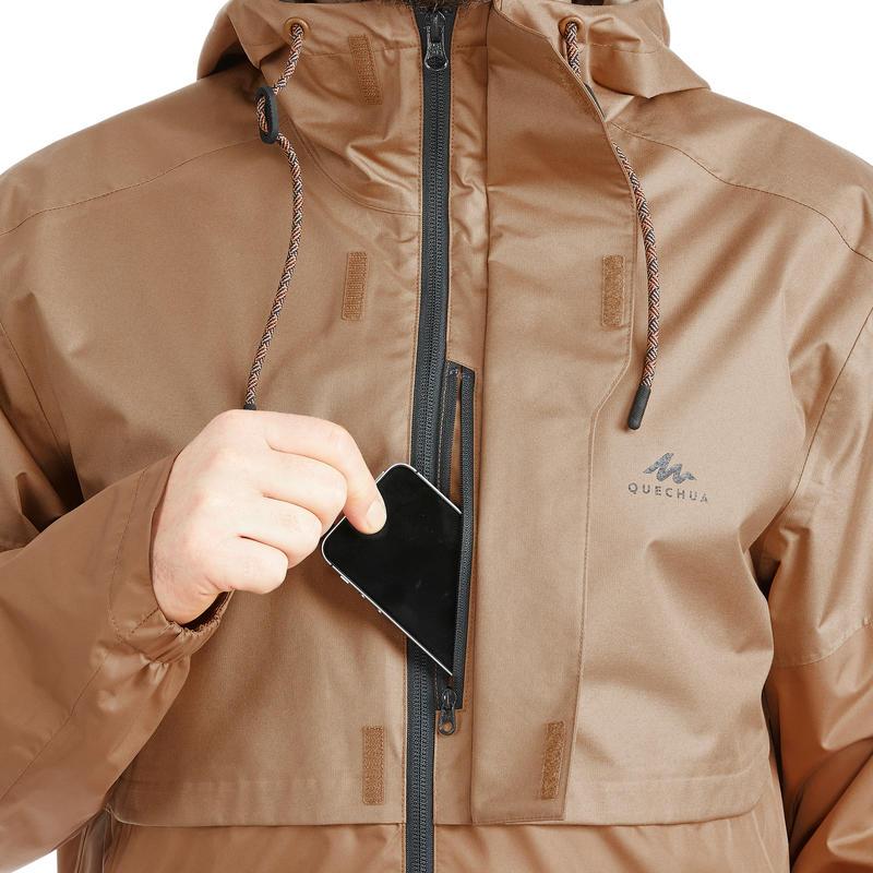 Men's Raincoat NH500 - Hazelnut
