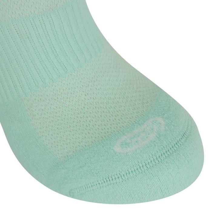 Calcetines Running Kalenji Confort Adultos Verde Nube Invisibles x2