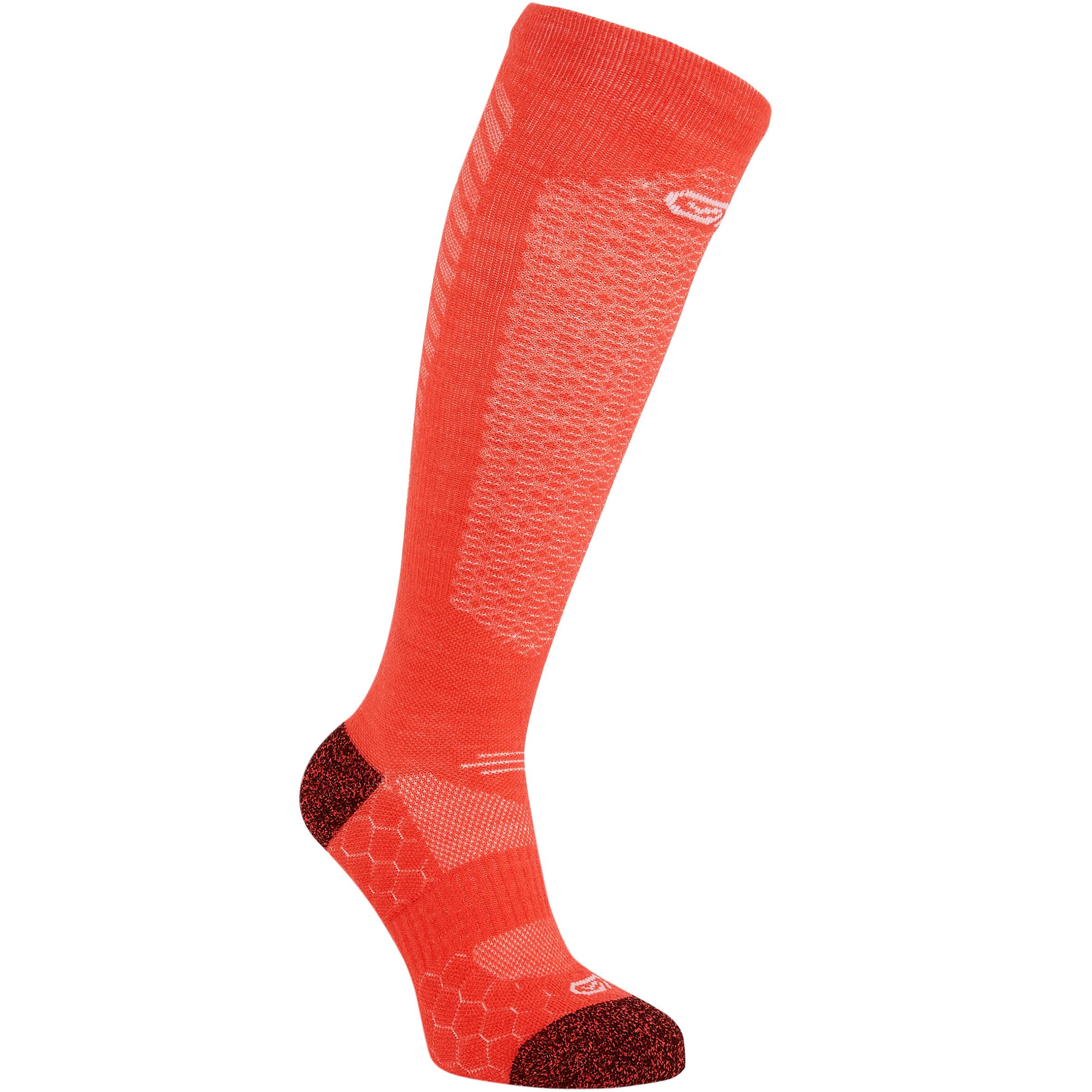Laufsocken High warm Kiprun rosa | Sportbekleidung > Funktionswäsche > Sportsocken | Rot - Rosa | Kalenji