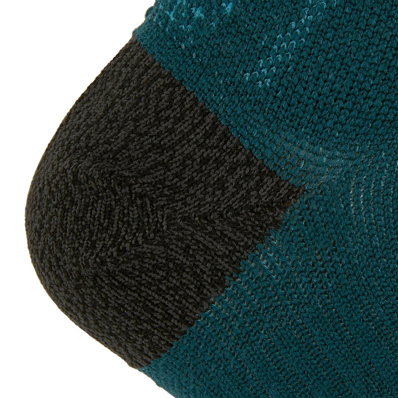 KIPRUN THIN MID-HEIGHT RUNNING SOCKS - PETROL BLUE