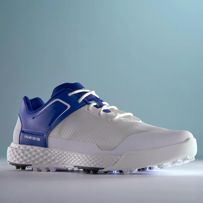 男款高爾夫球鞋DRY GRIP-白藍配色