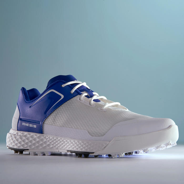 MEN'S GOLF SHOES DRY GRIP WHITE AND BLUE