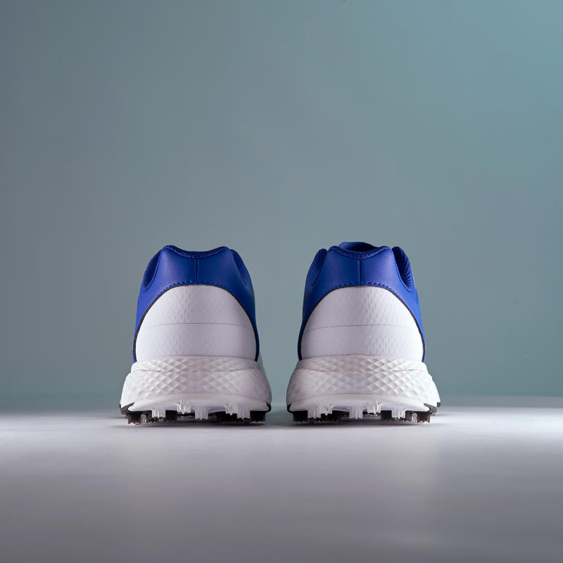 MEN'S GRIP SUMMER GOLF SHOES WHITE AND BLUE