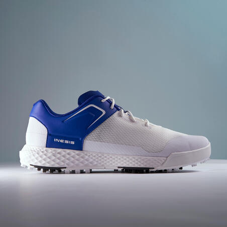CHAUSSURES GOLF HOMME GRIP DRY BLANCHES ET BLEUES