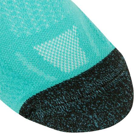 KIPRUN THICK MID-HEIGHT RUNNING SOCKS - LIGHT BLUE
