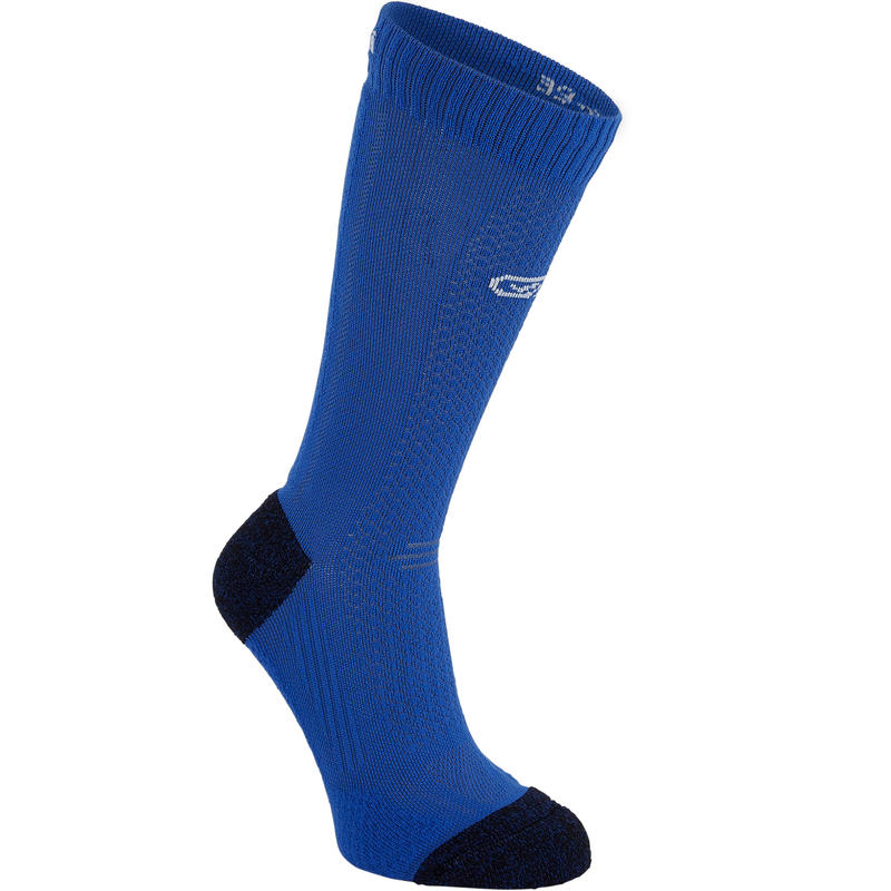 KIPRUN THINK UNDER CALF RUNNING SOCKS - BLUE