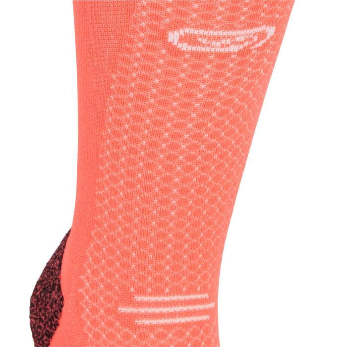 Dikke enkelsokken voor hardlopen Kiprun roze