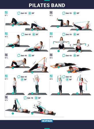 100 Pita Elastis Tinggi Daya Tahan Pilates