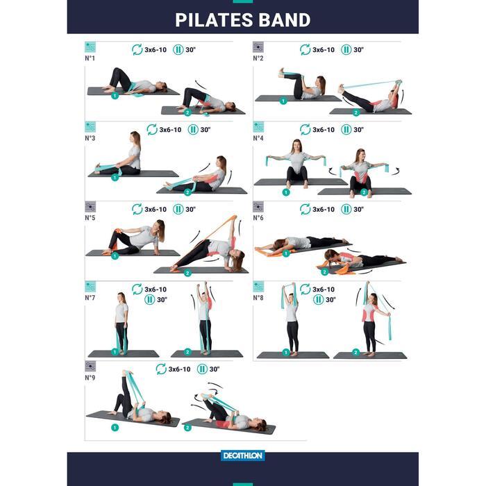 Elastikband 500 Textil mit Griffen Pilates Stretching geringer Widerstand
