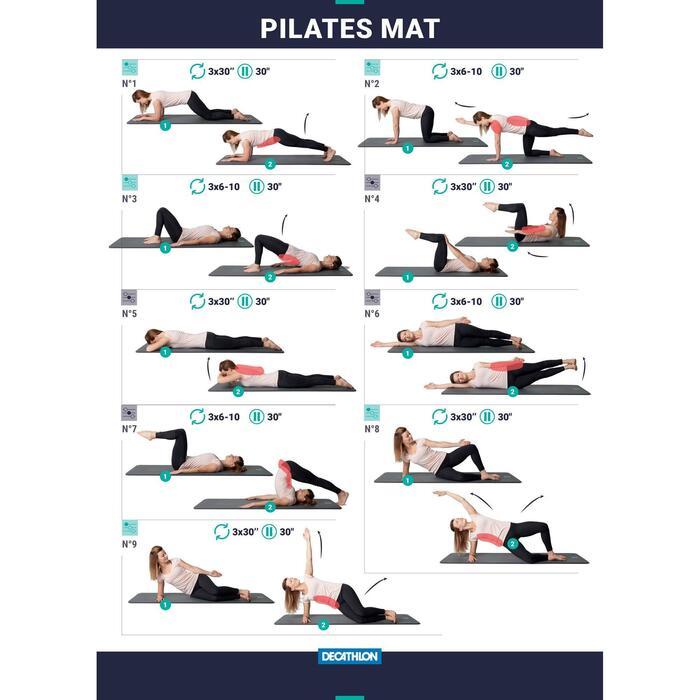 Fitnessmat pilatesmat Comfort L zwart 190 cm x 70 cm x 20 mm