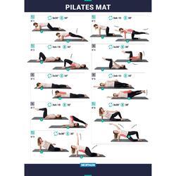 Fitnessmat pilatesmat Comfort M grijs 180 cm x 60 cm x 15 mm