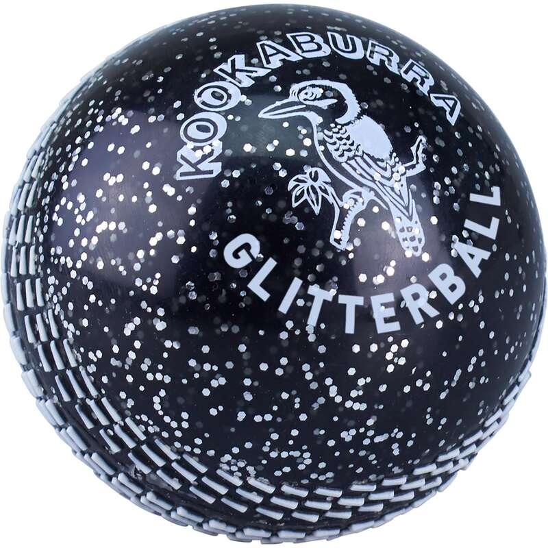 LEATHER BALL ALL PLAYER SHOES ADULT Cricket - Kookaburra Glitterball Black KOOKABURRA - Cricket Equipment