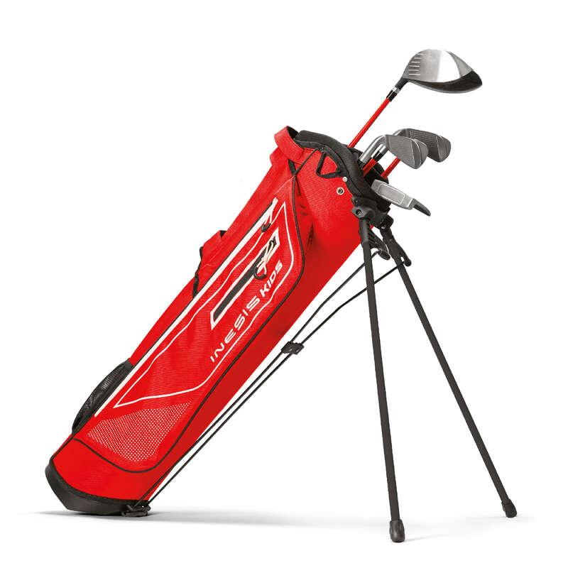 GOLFUTRUSTNING JUNIOR Golf - Golfset vänster Junior 8-10 år INESIS - Golfklubbor