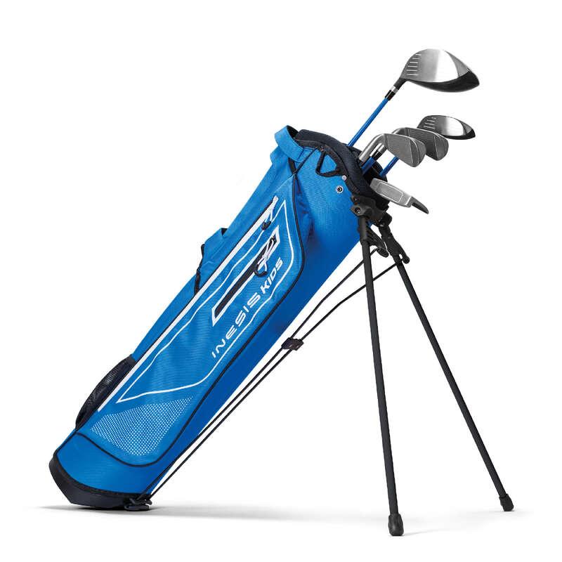 ECHIPAMENT GOLF JUNIOR Tir cu arcul, Darts, Golf, Petanca - Set Golf Stângaci  INESIS - Crose Golf