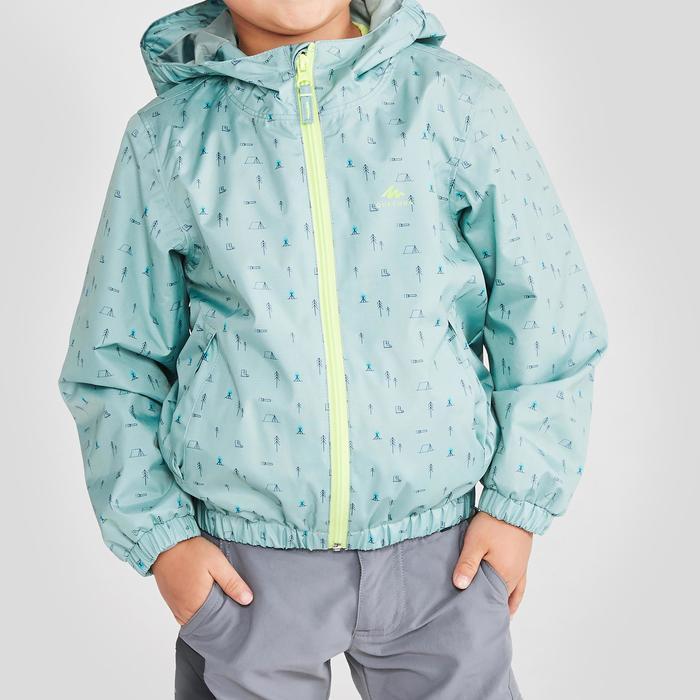 MH500 Kids' Hiking Waterproof Jacket - Green