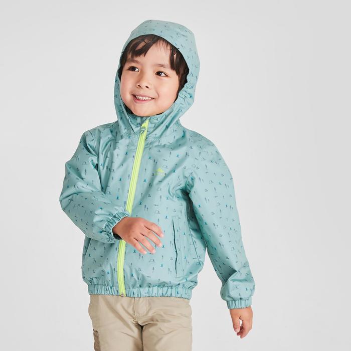 兒童款健行防水性外套MH500-綠色