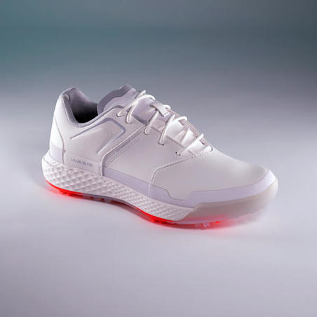 LADIES GRIP WATERPROOF GOLF SHOES WHITE