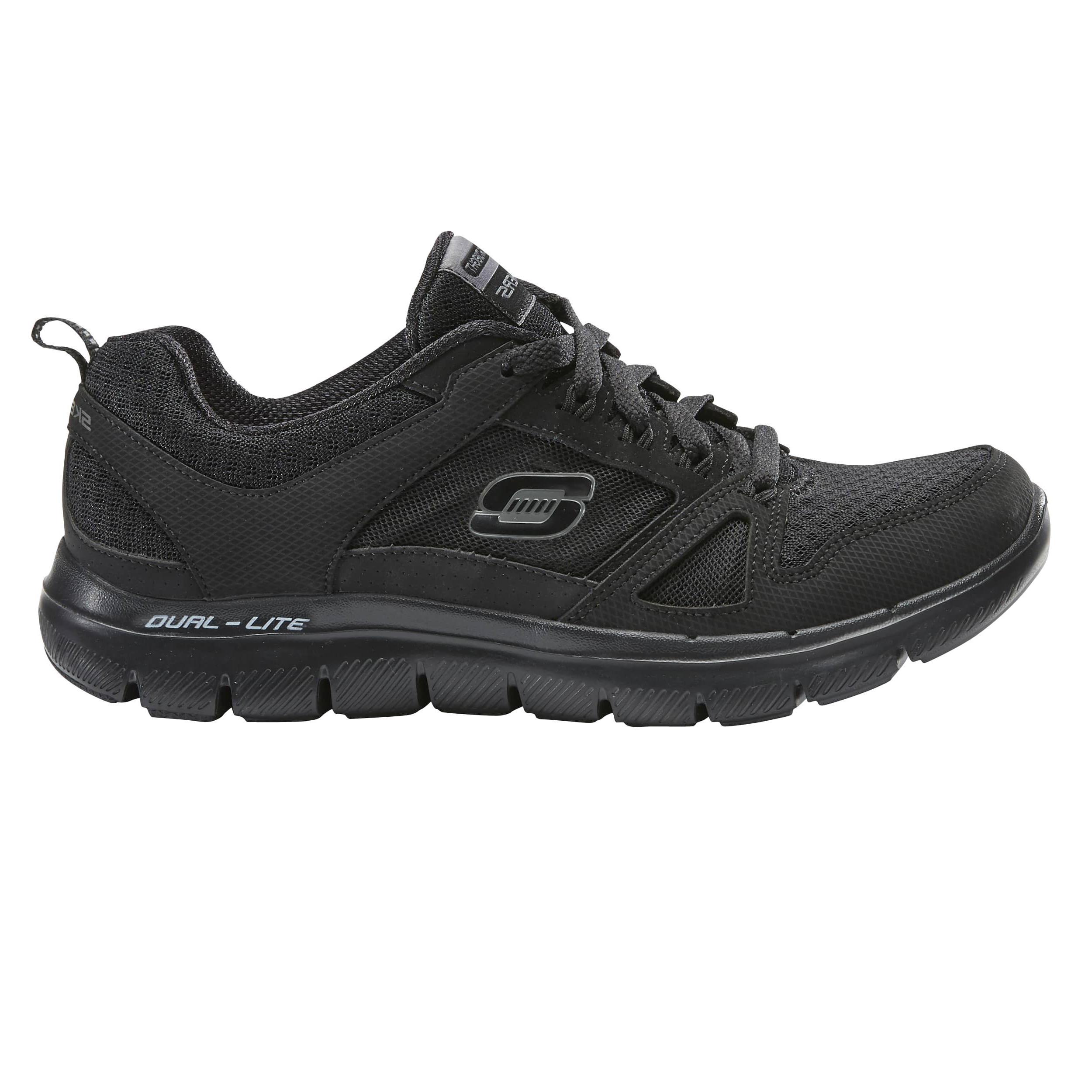 7ceb6bb961f Zapatillas de Marcha Deportiva Skechers Flex Dual Lite mujer negro Skechers