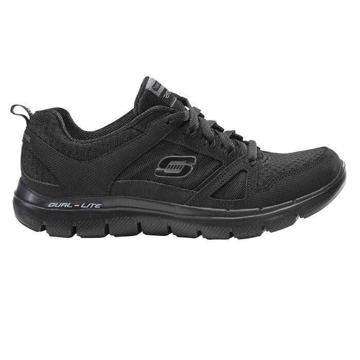 800f5d2e26e Zapatillas de Marcha Deportiva Skechers Flex Dual Lite mujer negro ...