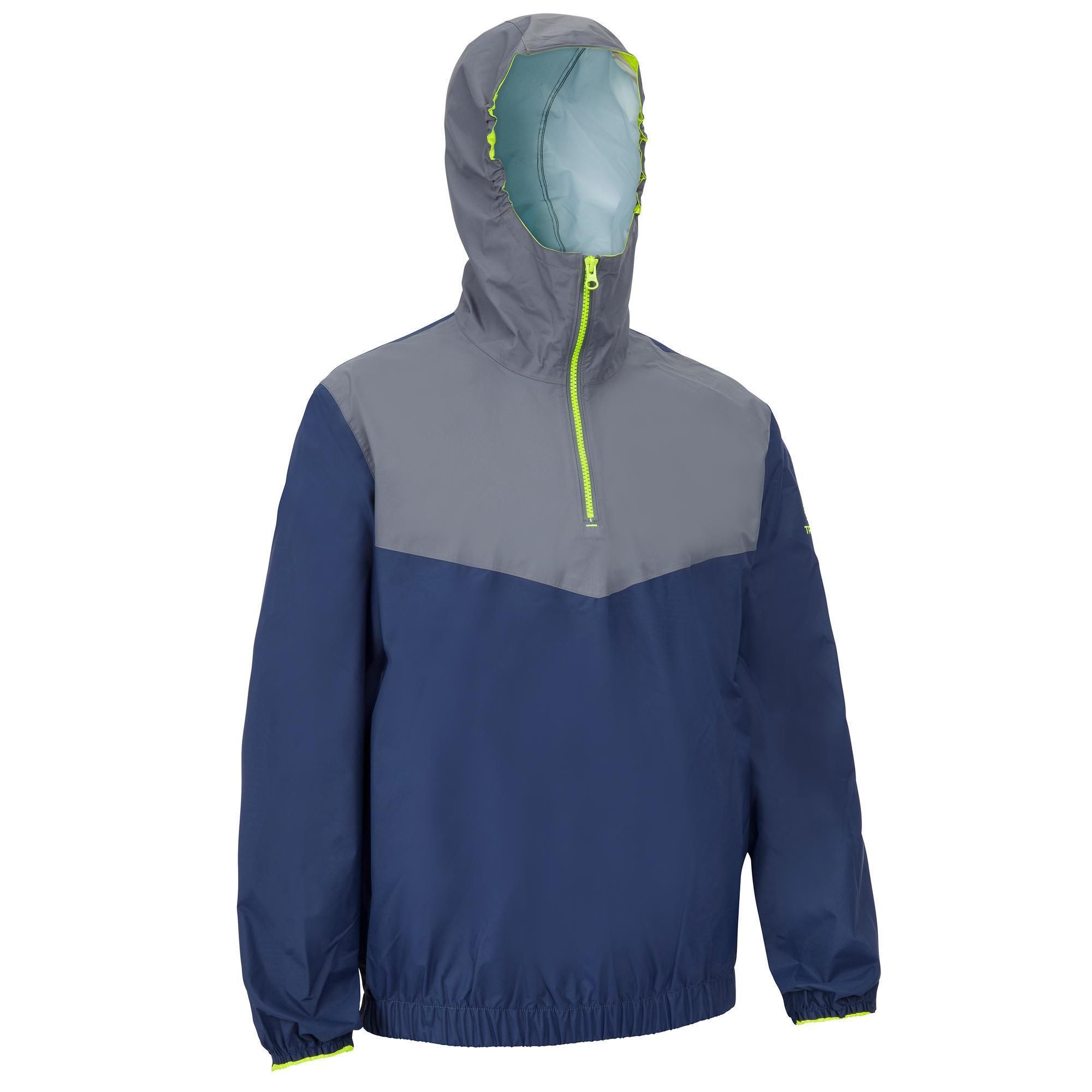 Segeljacke Dinghy 100 winddicht Erwachsene blau/grau | Sportbekleidung > Sportjacken > Sonstige Sportjacken | Blau - Grau - Gelb | Tribord