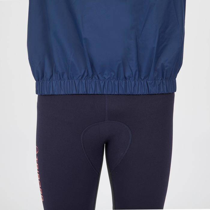 Segeljacke Dinghy 100 winddicht Erwachsene blau/grau