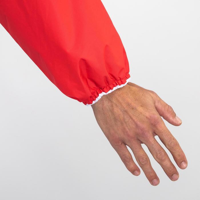 Segeljacke Dinghy 100 winddicht Erwachsene rot/blau