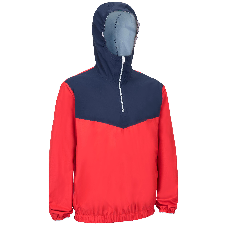 Tribord Windbestendige spraytop Zeilen volwassene Dinghy 100 rood/blauw