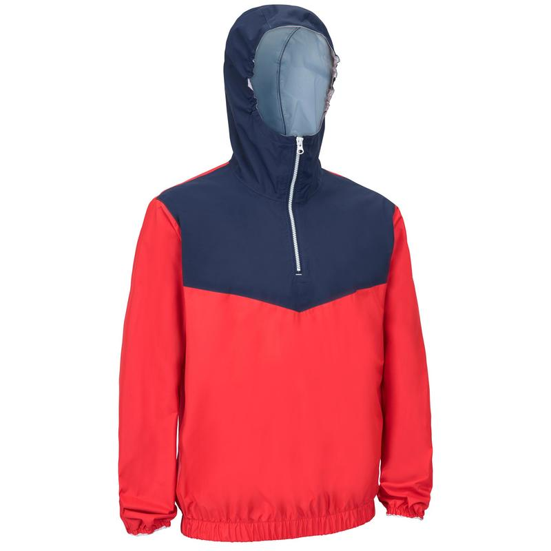 Adult Windproof Sailing Smock Dinghy 100 - red/blue