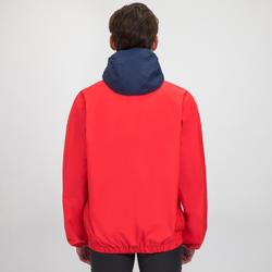 Chaqueta náutica Vareuse cortaviento Vela adulto Dinghy 100 rojo/azul
