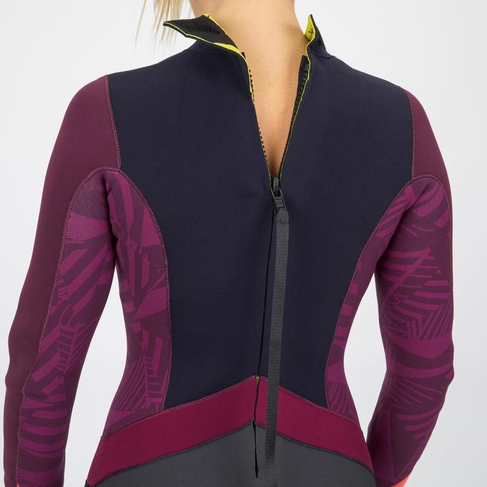 Neoprenanzug Dinghy 500 Jolle 3/2mm geklebt/genäht Damen violett/schwarz