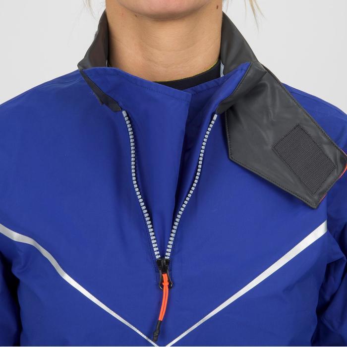 Windbestendige spraytop Zeilen dames Dinghy 500 Elektrisch blauw/rood