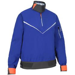 Segeljacke Dinghy 500 winddicht Damen electric-blau/rot