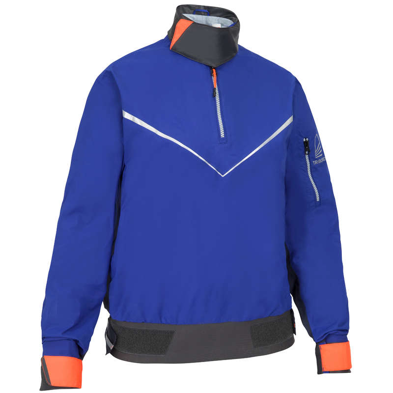 ADULT DINGHY EQUIPMENT Dinghy Sailing - Women's Sailing Smock 500 Blue TRIBORD - Dinghy Sailing
