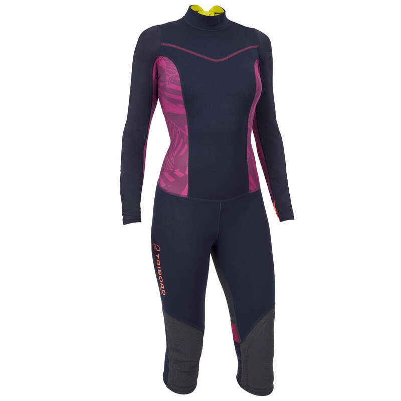 ADULT DINGHY EQUIPMENT Dinghy Sailing - W UV-Protection Wetsuit Purple TRIBORD - Dinghy Sailing