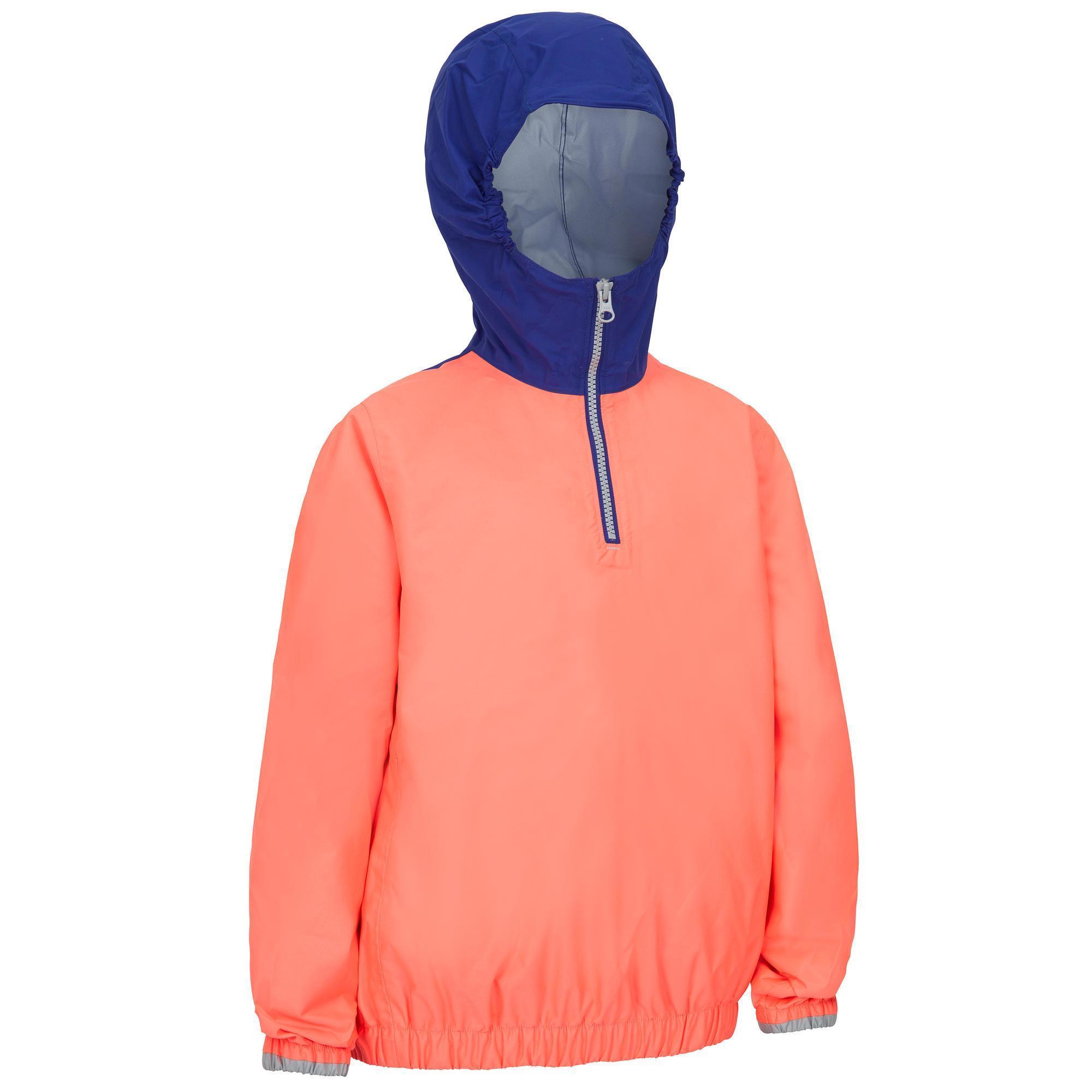 reloj oficial de ventas calientes promoción especial chaqueta impermeable montaña y trekking niño 7 16 años mh100 ...