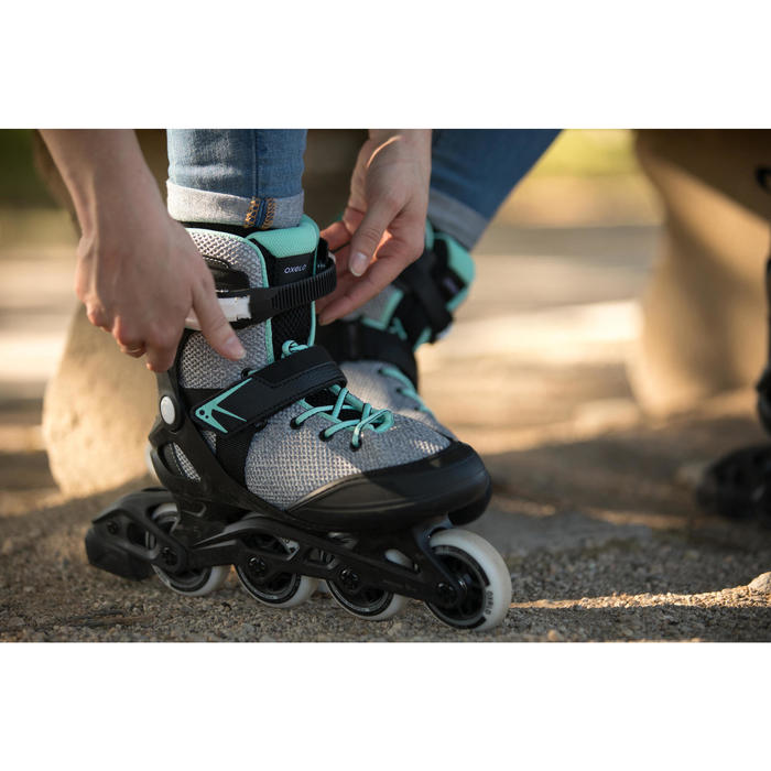 Inline Skates Inliner FIT100 Damen grau/mintgrün