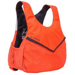 Chaleco de ayuda a la flotación 50N Vela Dinghy 500 naranja