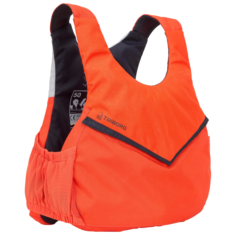 Tribord Zwemvest 50N Zeilen Dinghy 500 oranje
